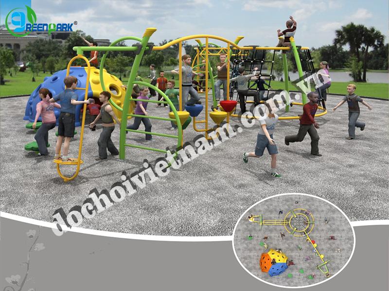 Tổng thể khu vui trẻ em ngoài trời GP02007