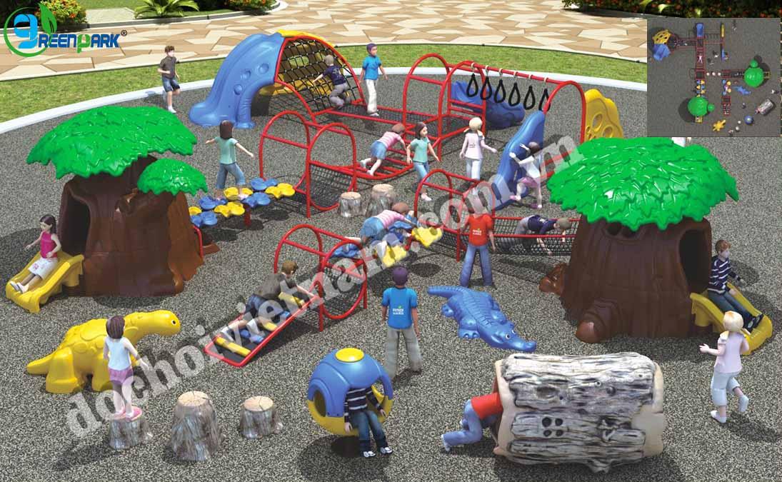 khu vui chơi trẻ em ngoài trời GP02010