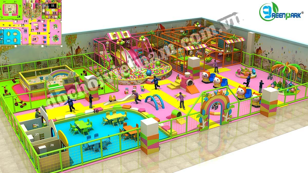 Toàn cảnh khu vui chơi trẻ em trong nhà GP01012
