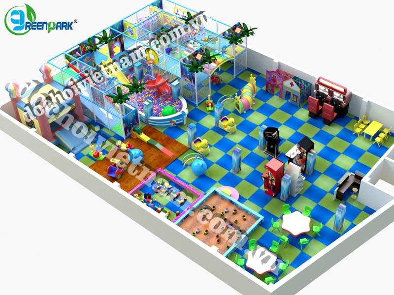 Tổng quan khu vui chơi trẻ em trong nhà GP01017