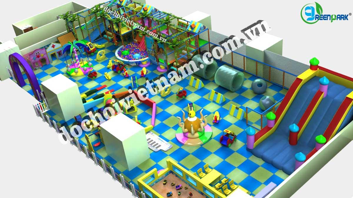 Tổng thể khu vui chơi trẻ em trong nhà GP01027