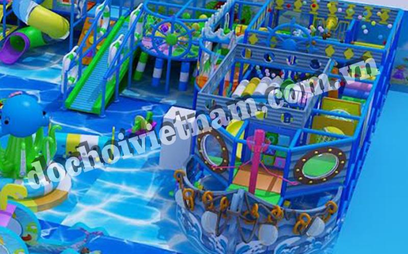 Con tàu trong khu vui chơi trẻ em trong nhà GP01001