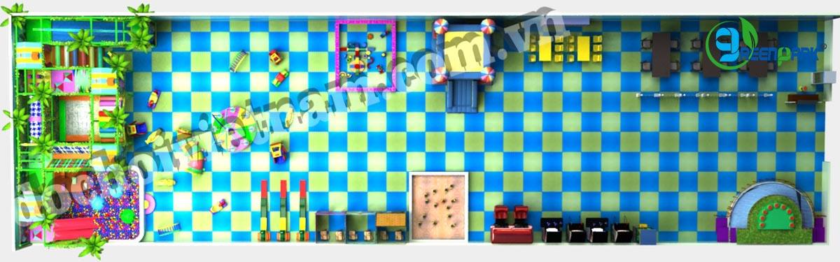 Tổng thể khu vui chơi trong nhà cho bé GP01018