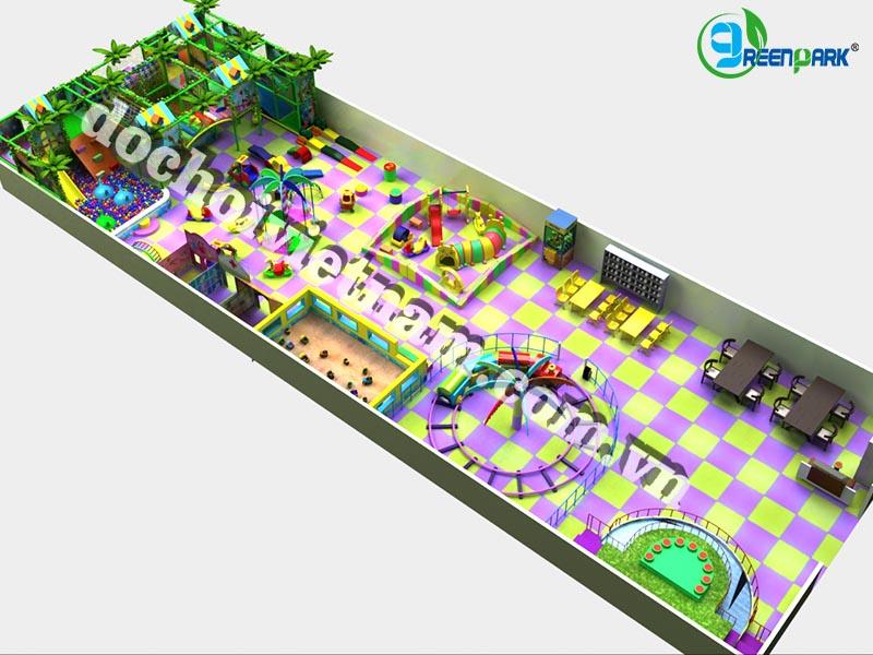 Tổng thể thiết kế khu vui chơi trong nhà cho trẻ em GP01019