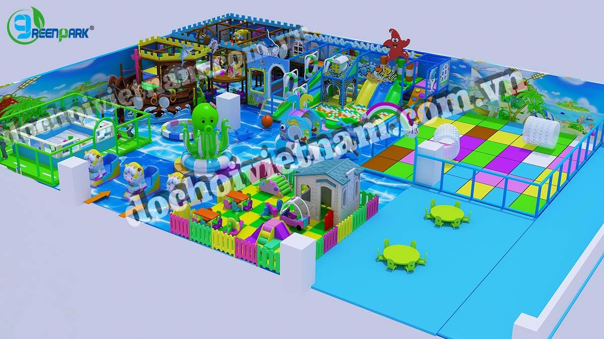 Tổng thể mô hình khu vui chơi trẻ em trong nhà GP01021