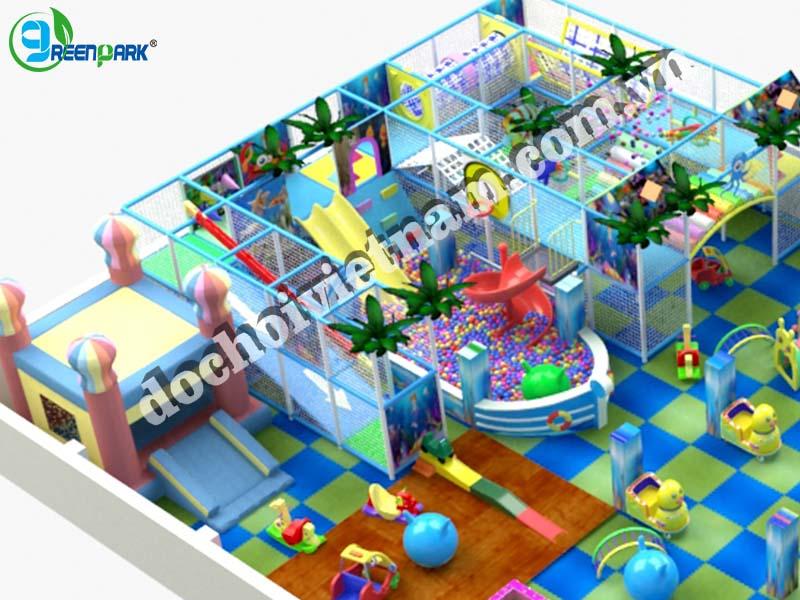 Nhà liên hoàn vận động trong khu vui chơi trẻ em trong nhà GP01017