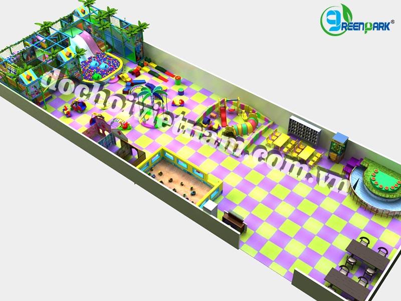 Tổng thể sân chơi trong nhà cho trẻ em GP01022