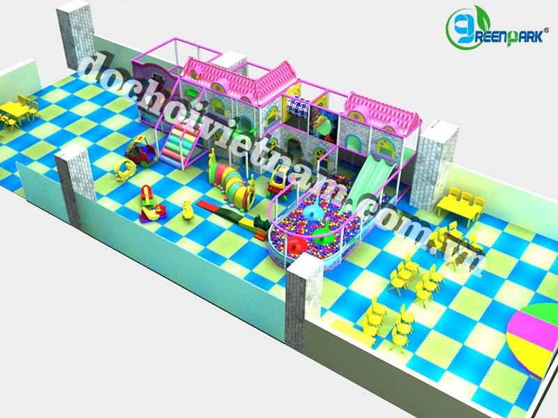 Tổng quan sân chơi trong nhà cho trẻ em GP01020