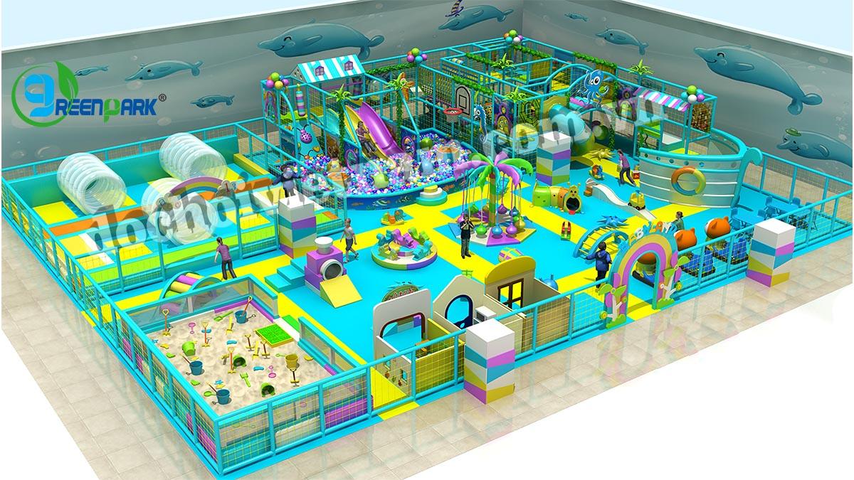 Tổng thể sân chơi trẻ em trong nhà GP01008
