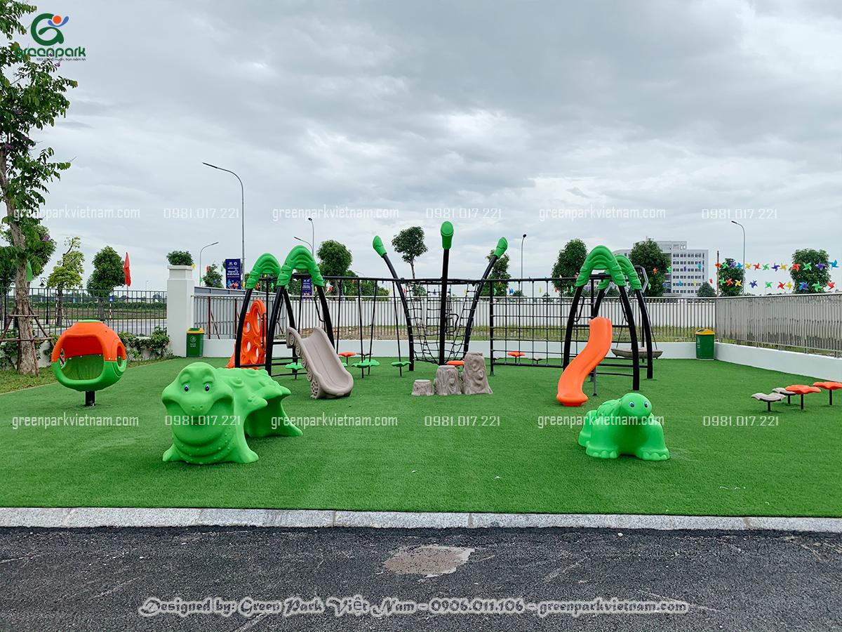 Chọn cỏ nhân tạo dùng cho sân chơi trẻ em